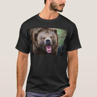 Oso grizzly de rugido playera