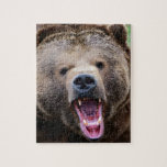 Oso grizzly de rugido rompecabezas