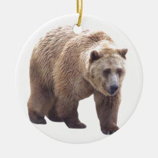 Oso grizzly ornamente de reyes