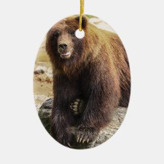 Oso grizzly adorno