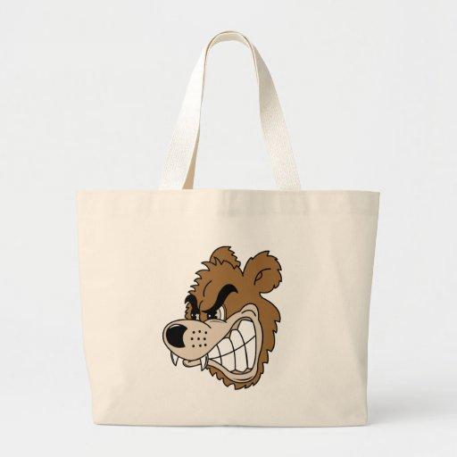 Oso grizzly feroz bolsas de mano