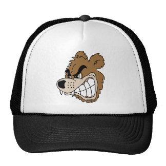 Oso grizzly feroz gorras de camionero