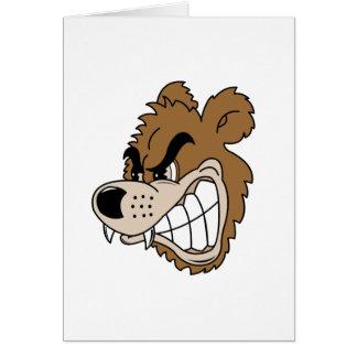 Oso grizzly feroz tarjeta de felicitación