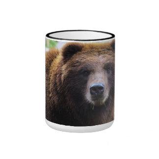 Oso grizzly hermoso taza a dos colores