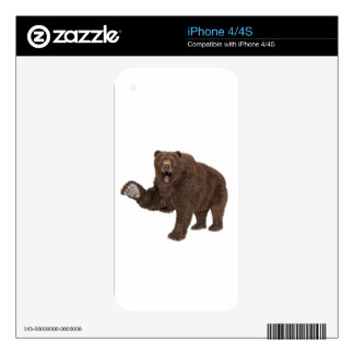 Oso grizzly iPhone 4S skin