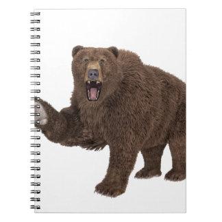 Oso grizzly libros de apuntes