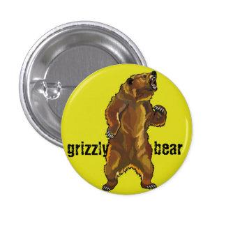 oso grizzly pin redondo 2,5 cm