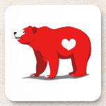 Oso grizzly posavasos de bebidas