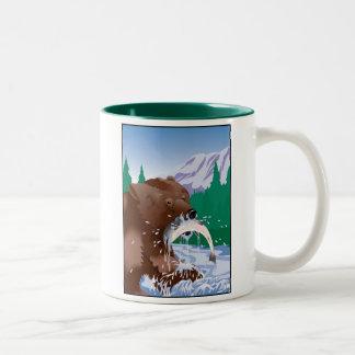 Oso grizzly taza de Alaska