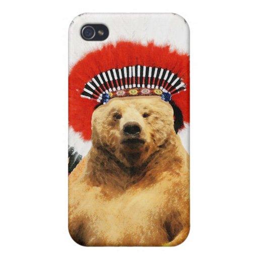 ¡Oso indio del nativo americano! iPhone 4 Cobertura