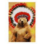 ¡Oso indio del nativo americano! Impresiones