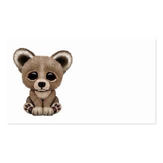 Oso lindo Cub de Brown del bebé Tarjetas De Visita