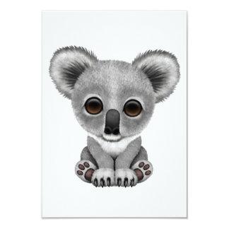 """Oso lindo Cub de koala del bebé Invitación 3.5"""" X 5"""""""