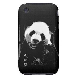 Oso lindo Cub de panda gigante que come las hojas  Tough iPhone 3 Funda