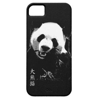 Oso lindo Cub de panda gigante que come las hojas  iPhone 5 Carcasas