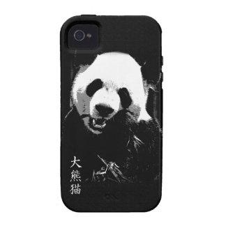 Oso lindo Cub de panda gigante que come las hojas  iPhone 4/4S Fundas