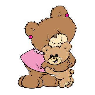 oso lindo de la madre que abraza diseño del oso de escultura fotográfica