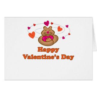 Oso lindo de la tarjeta del día de San Valentín de