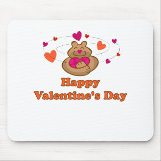 Oso lindo de la tarjeta del día de San Valentín de Tapetes De Ratón