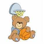 Oso lindo del baloncesto esculturas fotograficas