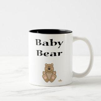 Oso lindo del bebé del oso de Brown Taza De Dos Tonos