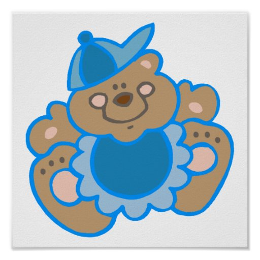 oso lindo del bebé posters