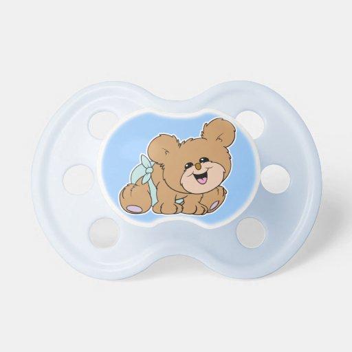 oso lindo del dibujo animado del bebé chupetes de bebe