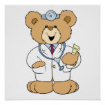 Oso lindo del doctor peluche posters
