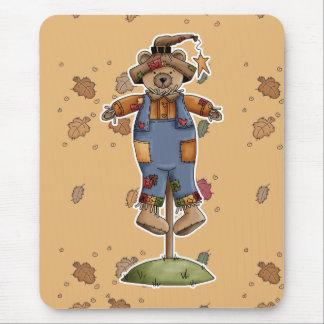 oso lindo del espantapájaros tapetes de raton