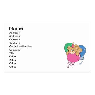 Oso lindo del globo del cumpleaños plantillas de tarjetas personales