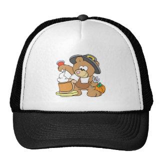 oso lindo del peregrino de la acción de gracias qu gorra