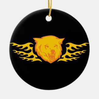 Oso llameante #2 ornamento de navidad