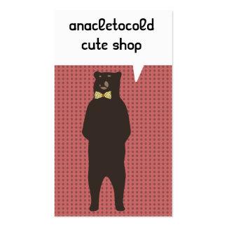 oso marrón del arco tarjetas de visita
