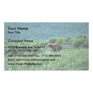 Oso marrón del Kodiak Tarjetas De Visita