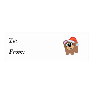 Oso marrón lindo santa de Navidad de Goofkins Tarjetas De Visita Mini
