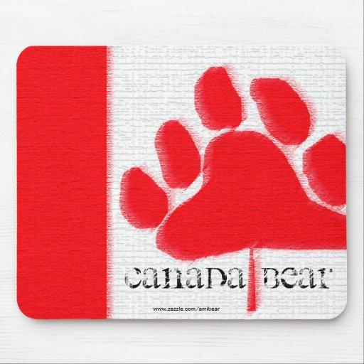Oso Mousepad de Canadá