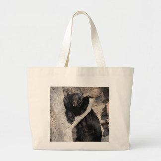 Oso negro asiático bolsa tela grande