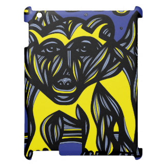 Oso, negro azul del amarillo del oso polar