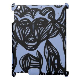 Oso, negro azul del oso polar