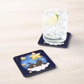 Oso negro azul posavasos de bebidas