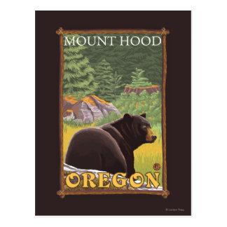 Oso negro en el bosque - capilla del soporte, tarjeta postal