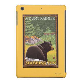 Oso negro en el bosque - el Monte Rainier, Fundas De iPad Mini Retina