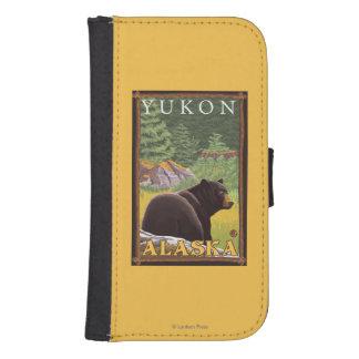 Oso negro en el bosque - el Yukón, Alaska Cartera Para Galaxy S4