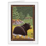 Oso negro en el bosque - Idaho Tarjetas