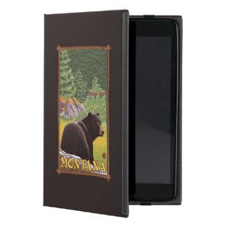 Oso negro en el bosque - Montana iPad Mini Cobertura