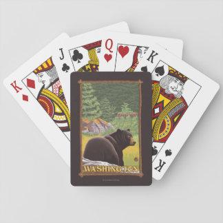 Oso negro en el bosque - Washington Barajas De Cartas