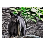 Oso negro en la pintura de maderas impresiones
