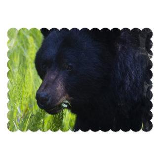 Oso negro invitación 12,7 x 17,8 cm