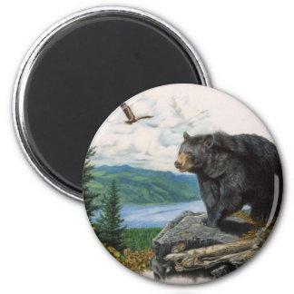 Oso negro Ridge Imán Redondo 5 Cm
