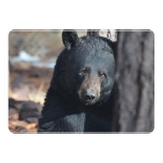 Oso negro salvaje lindo invitación 12,7 x 17,8 cm